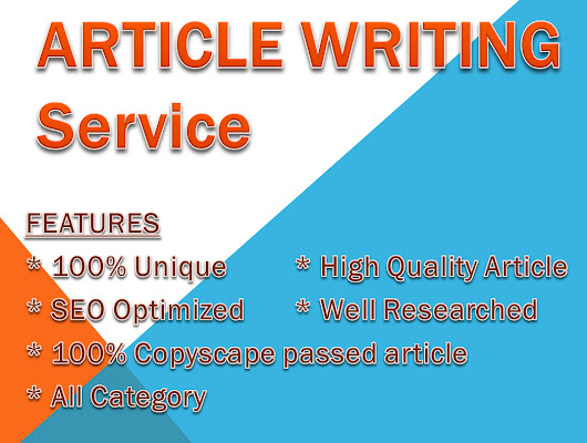 500+ words article writing Recommended for SEO for $3