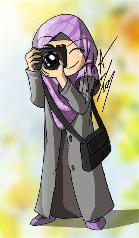 koleksi gambar kartun hijab lucu  ucapan mukena