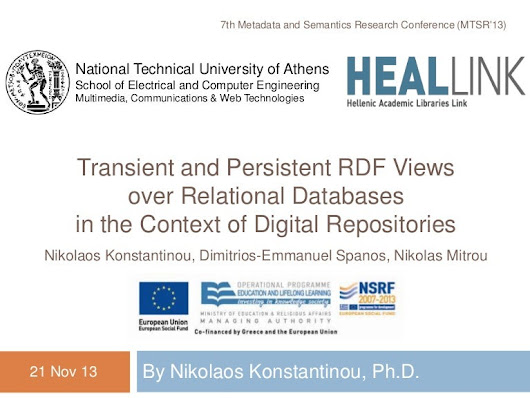 Transient and persistent RDF views over relational databases in the...