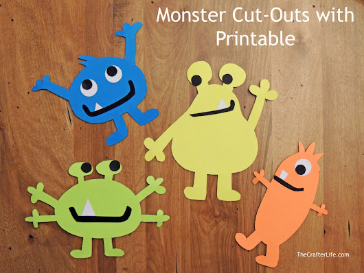 Monster Cut-Outs with Printable *