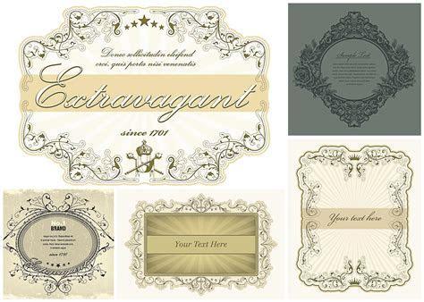 Vintage ornate frames vector   Free download