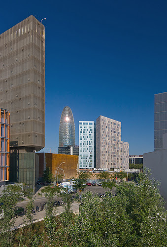 Agbar Tower from Distrit 22@, Barcelona, Spain