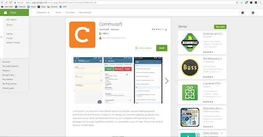 The Commusoft mobile app comes to Chromebooks