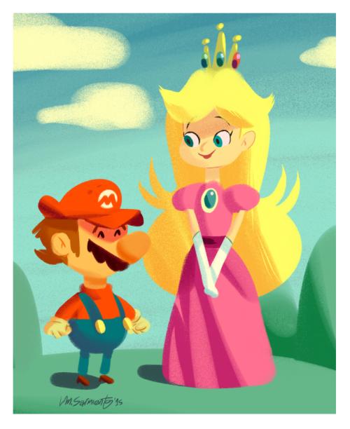 Peach and the Mario byLuis Mario Sarmiento