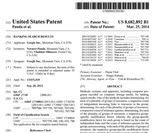 Google validates that PR is SEO in patent filing