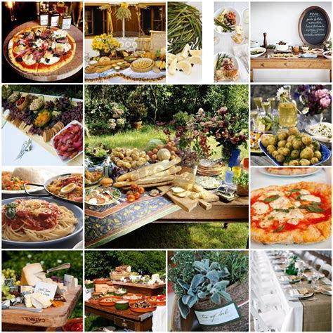 Rustic italian buffet   wedding foods and desserts
