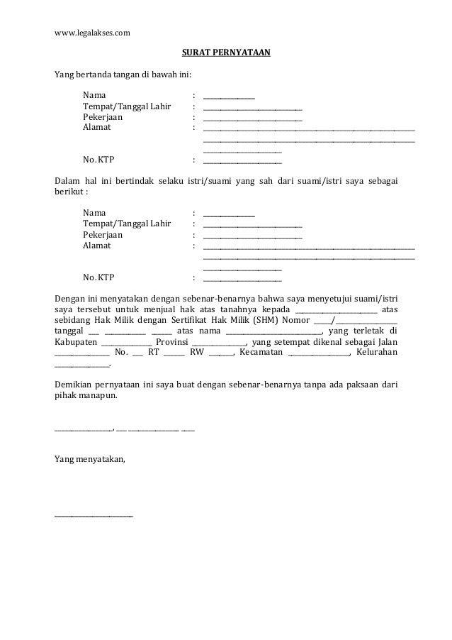 Contoh Surat Perjanjian Untuk Suami