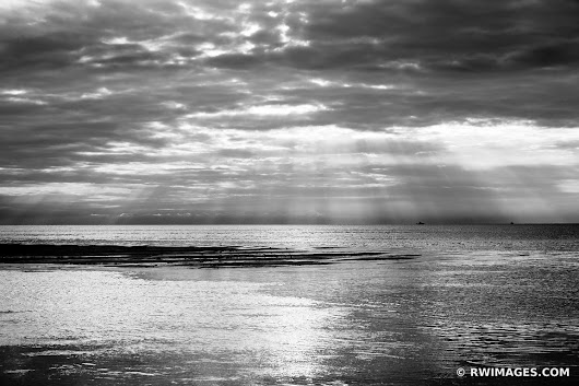 Photo Print of SUNSET ROCK HARBOR ORLEANS CAPE COD BLACK AND WHITE SEASCAPE Print Framed Picture Fine Art Photography Large Print Wall Decor Art For Sale Stock Image Photo Photograph High Resolution Digital Download Aluminum Metal Acrylic Canvas Framed Photo Print Buy Photo by Robert Wojtowicz Fine Art Photographer