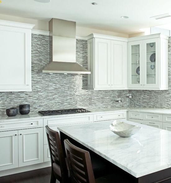 Kitchen Tile Backsplash Ideas 2013: Phone Wallpaper Ideas: Glass Tile Backsplash White