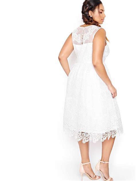 Fit & Flare Midi Wedding Dress   Addition Elle
