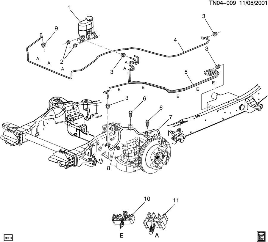 2004    Chevy    Silverado Brake Line    Diagram     Free    Diagram    For