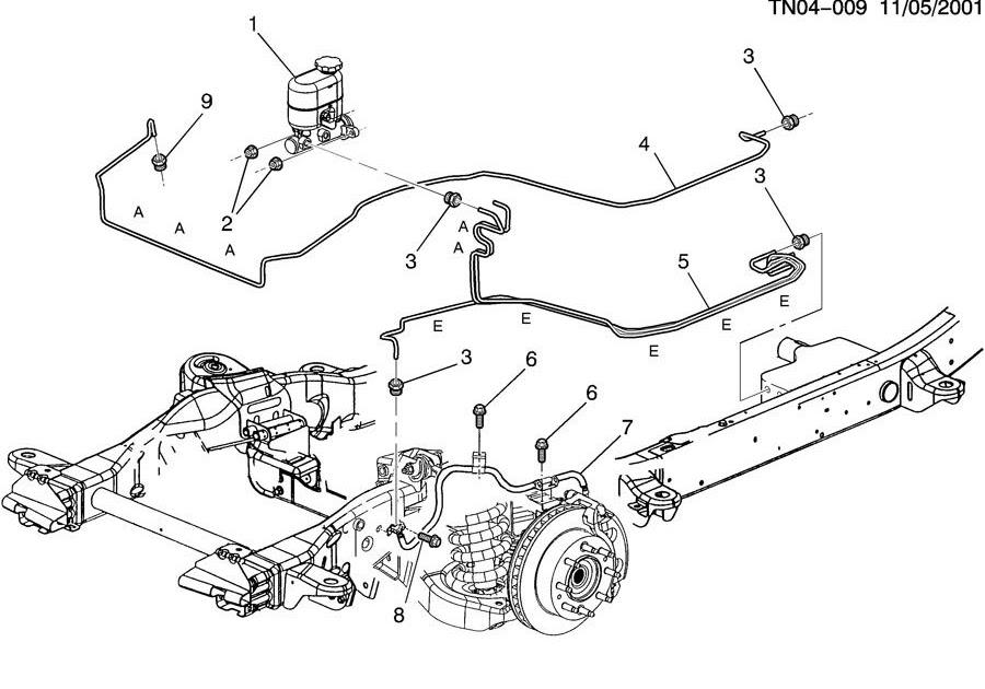 2002 Chevy Avalanche Brake Line Diagram Wiring Diagram