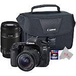 Canon Eos 80D 24.2MP Digital SLR Camera + Canon 18-55mm + 55-250 is II Lens Top Kit
