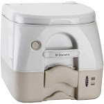970 portable toilet 2.8 gallon tan