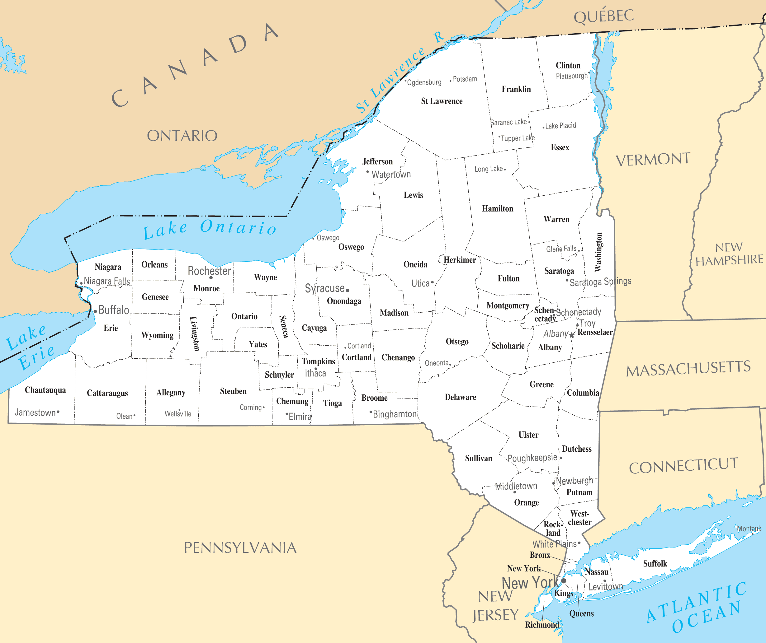 New York Cities And Towns  E2 80 A2 Mapsof Net