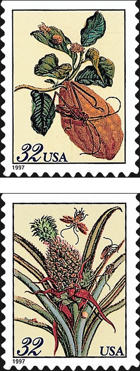 U.S. Wedding stamps show floral designs by Merian