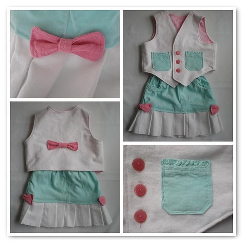 Skirt and Vest Collage