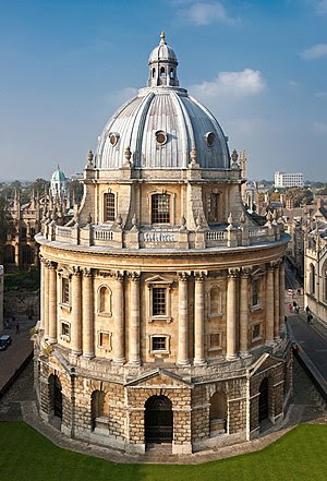 The Radcliffe Camera in Oxford, England as vie...