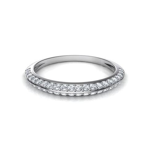 2019 Latest Pave Diamond Wedding Rings