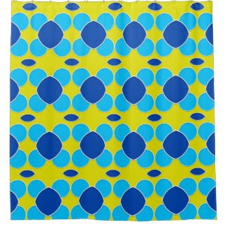 Bold Blue and Yellow Shower Curtain
