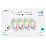 Feit WiFi Smart LED Recessed Downlight, 4-pack