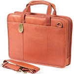 Claire Chase Small File Briefcase Saddle