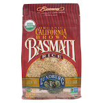 Lundberg Family Farms Organic California Basmati Rice - Brown - Case of 6 - 1 lb.
