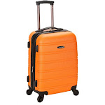 "Rockland Melbourne 20"" Expandable ABS Carry On, Orange"