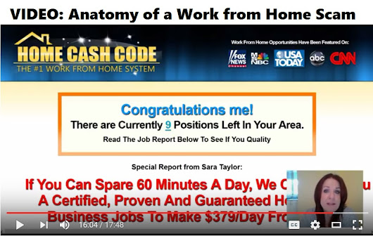 VIDEO: Anatomy of a Work from Home Scam by RatRaceRebellion