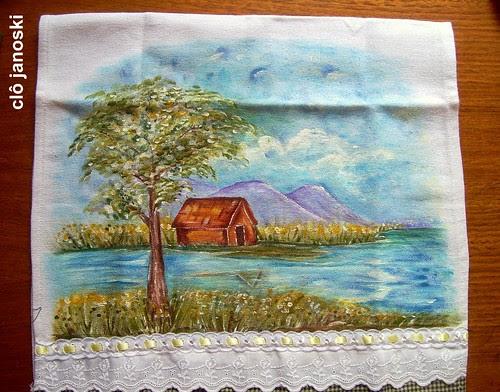 pintura a mão livre by Clô Artesanato