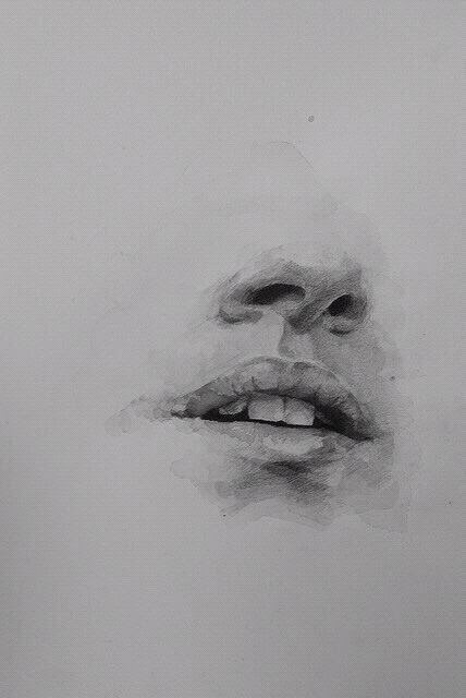 anxiety, art, depression, drawing, lips - image #4320073 ...