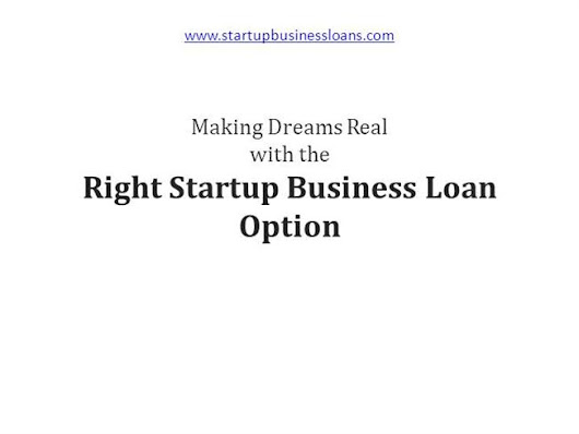 Making Dreams Real With the Right Startup Business Loan Option Ppt..