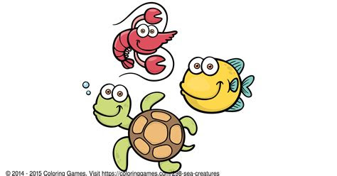 sea creatures coloring games  coloring pages