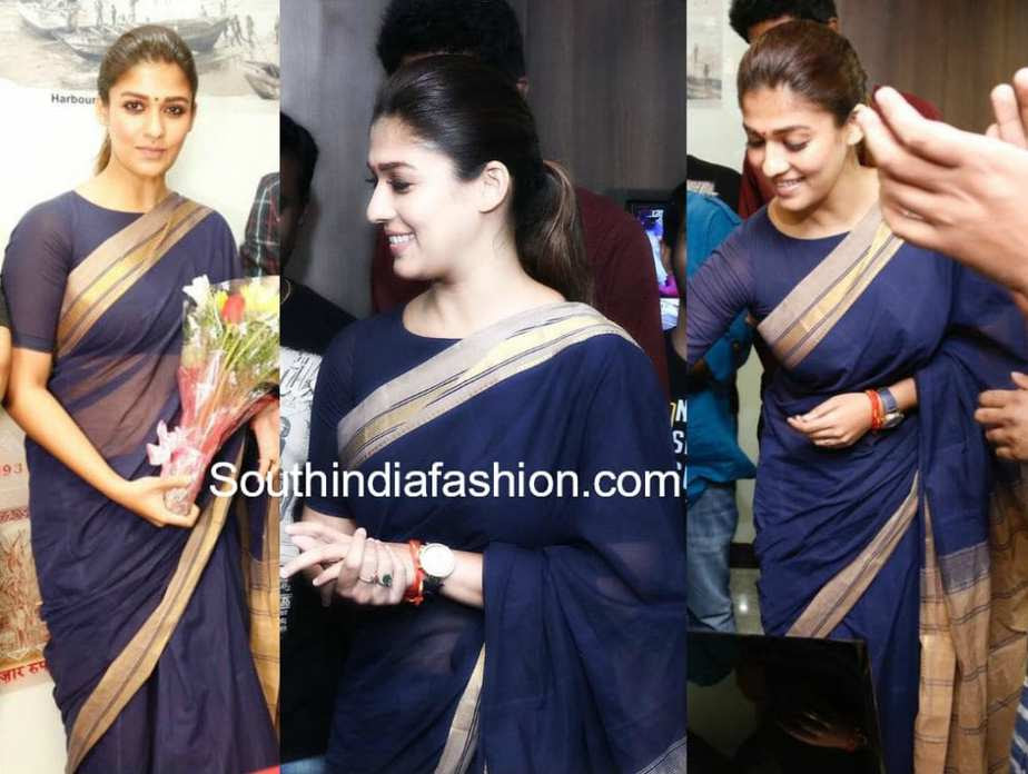 Nayanthara in a handloom cotton saree