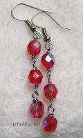 wire wrapped dangle earrings