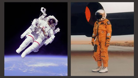 The difference between orange and white astronaut suits