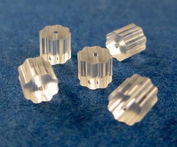 Earring stoppers for hook-style pierced earwires - Rena Klingenberg