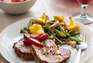 Grilled Leg of Lamb with Pearl Onion and Plum Chutney
