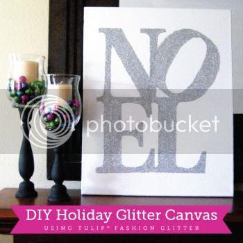 Glitter Noel Canvas