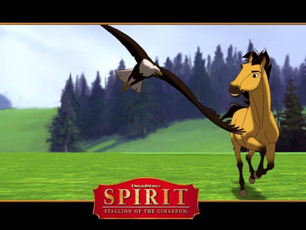 Spirit And Eagle Spirit Stallion Of The Cimarron Wallpaper