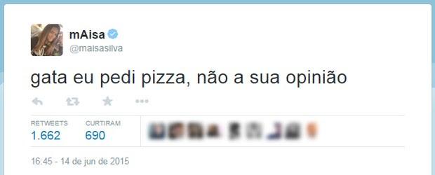 Ego Maisa Silva Causa No Twitter Fale Bem Ou Fale Mal Eu Dava