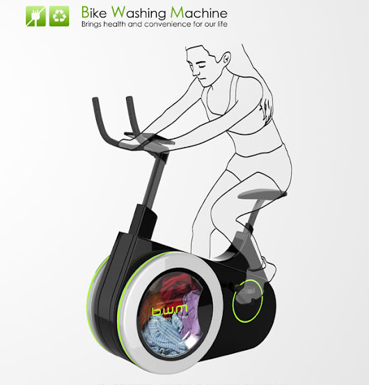 Bike Washing Machine : Wash Your Clothes While Riding The Stationary Bike | Tuvie