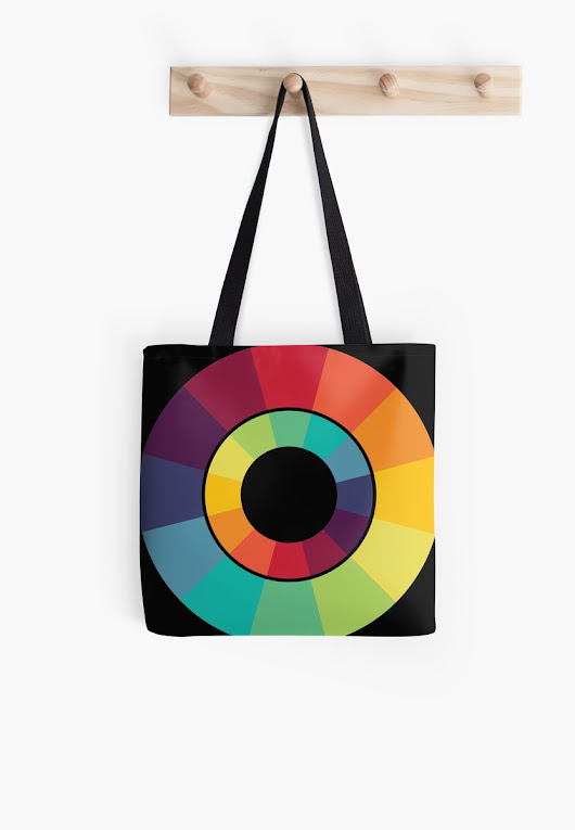 'Complementary Colour Wheel' Tote Bag by iopan
