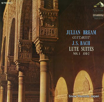 BREAM, JULIAN bach; lute suites