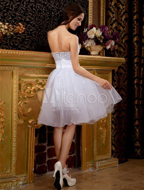 Feminine White Strapless Mini Tulle Womens Homecoming