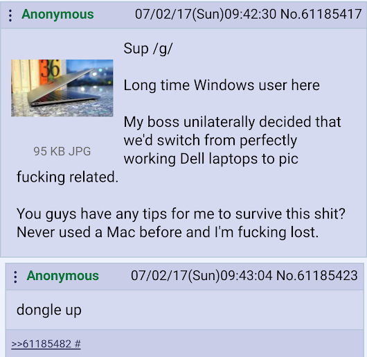 Anon has to use a macbook for work • r/pcmasterrace