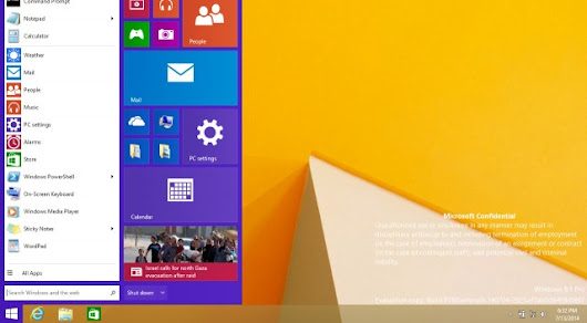 Leaked build of Windows 9 shows reborn Start menu, Metro apps running on the Desktop Leaked build of Windows 9 shows reborn Start menu, Metro apps running on the Desktop - Tech o Blog