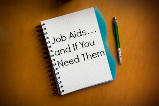 Job Aids... And If You Need Them | SweetRush
