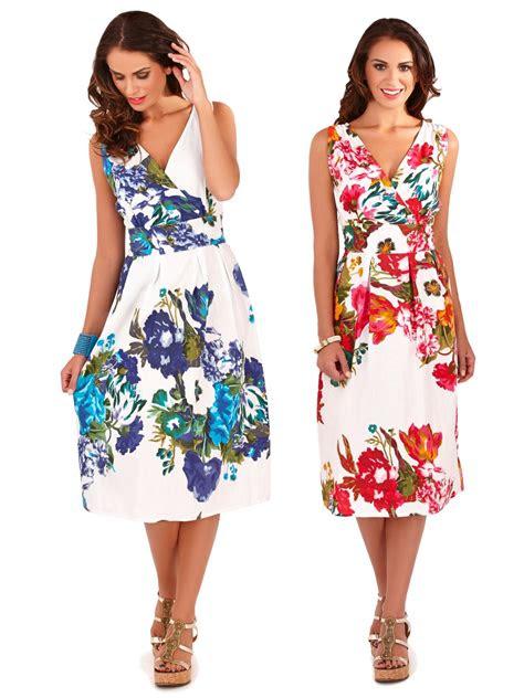 womens dress  cotton floral summer dress mid knee