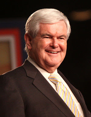 English: Newt Gingrich at a political conferen...